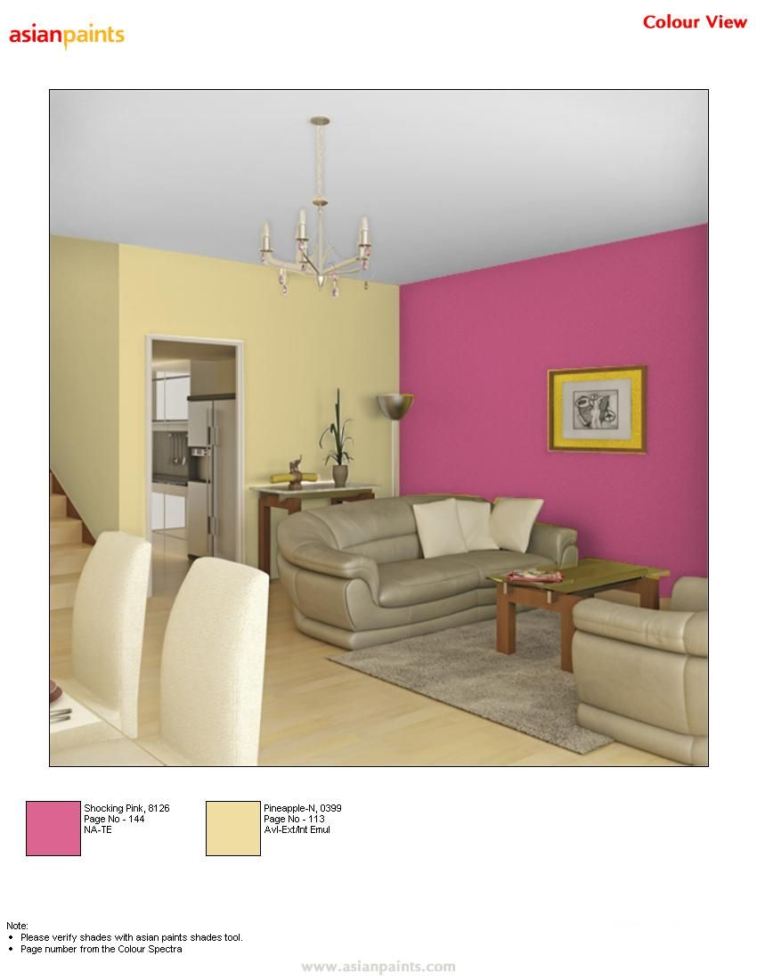 Pink And Yellow Can Go Well For A Big Room Which Has White Furniture Or May B Some Light Gre Bedroom Color Combination Dorm Room Color Schemes Dorm Room Colors