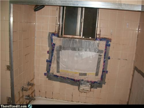 Duct tape and plastic bags are not ideal for bathtub repairs ...