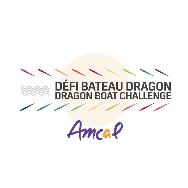Création du logo par Maestro Communications  Pour le Défi Bateau Dragon de Amcal, OSBL de l'Ouest-de-l'Île de Montréal.