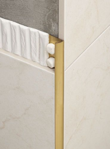 Brass Edge Trim For Tiles Round Corner Novocanto Laton Emac Complementos S L Tile Edge Tile Trim Home Interior Design