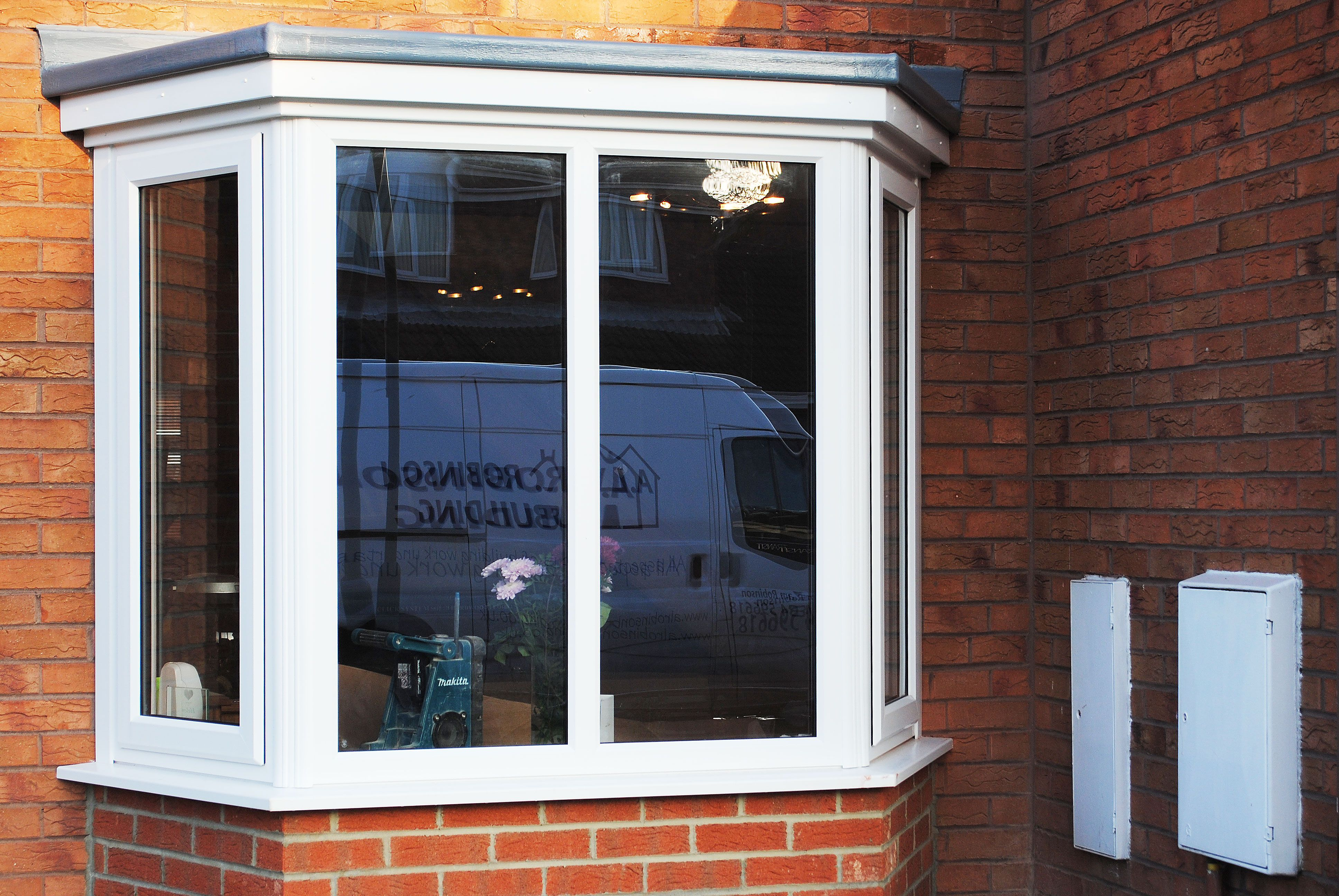 Here Is A Simple Bay Window With Brickwork. Changing A Basic Window Into A  Bay