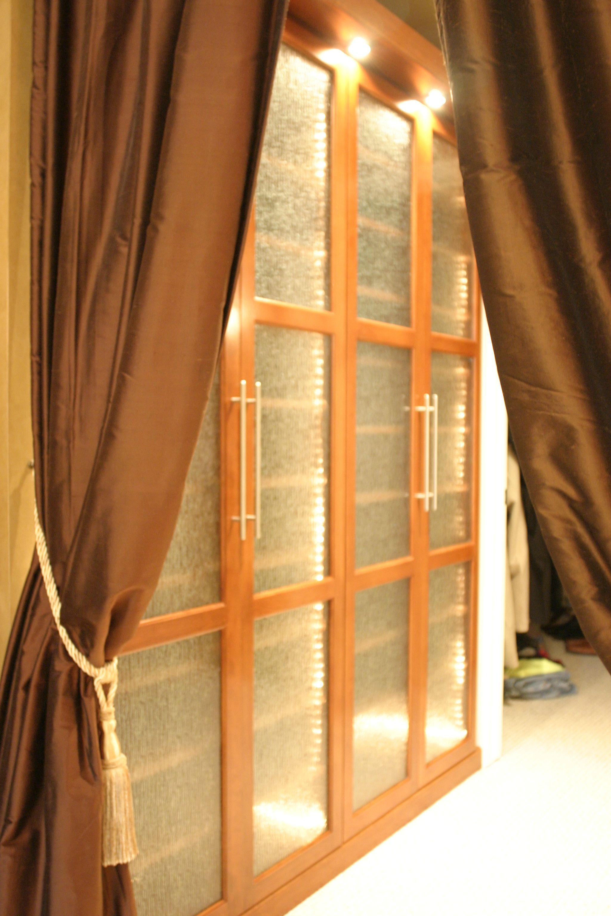 Custom bedroom closet by Crooked Oak.