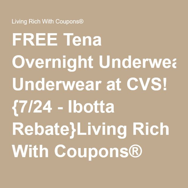 picture relating to Tena Coupons Printable named Cost-free Tena Right away Underwear at CVS! 7/24 - Ibotta Rebate