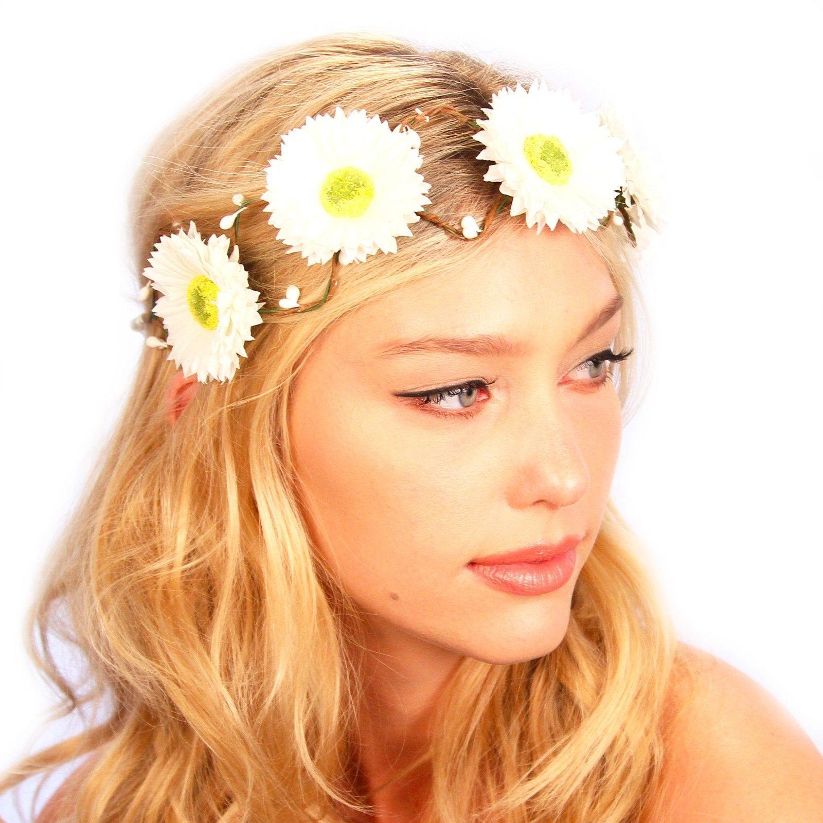 Kristin Perry Daisy Flower Headband Floral Head Wreath Products