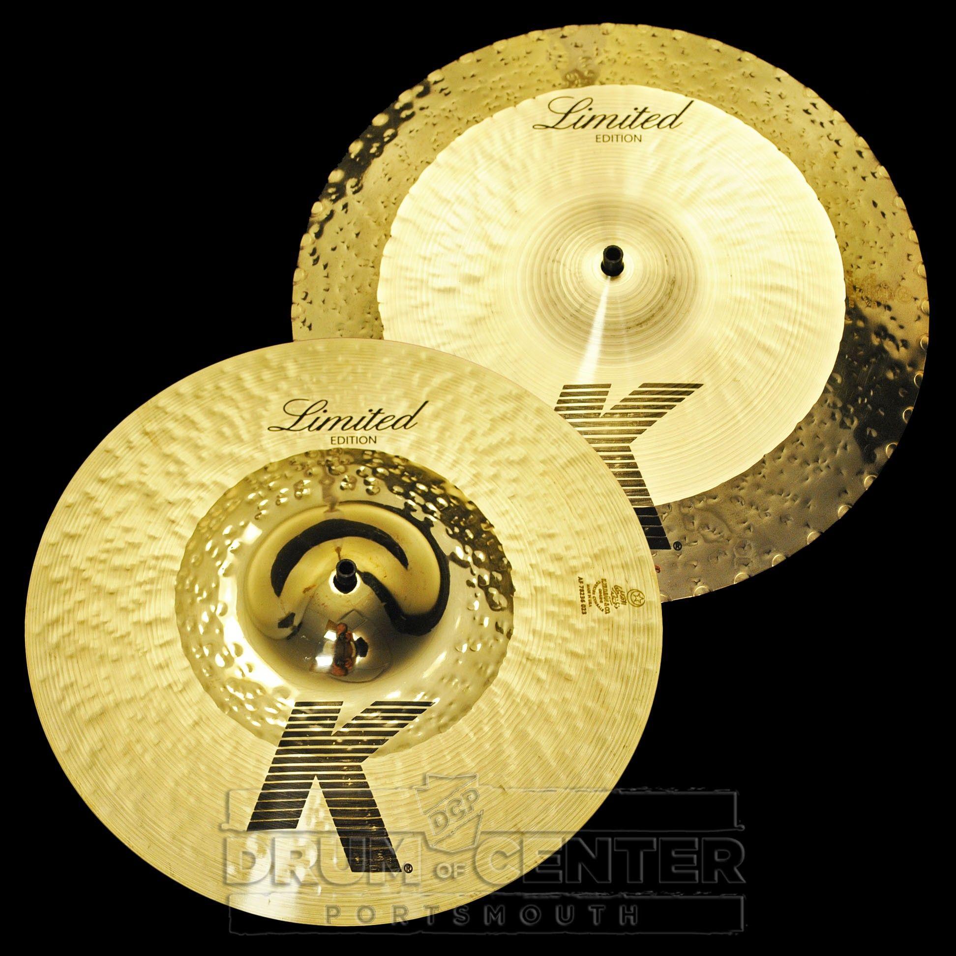zildjian k custom hybrid reversible hi hat cymbals 14