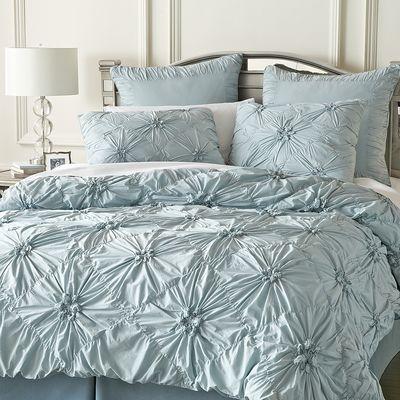Savannah Duvet Cover Sham Celestial Blue Blue Duvet Cover Ruched Bedding Duvet Bedding