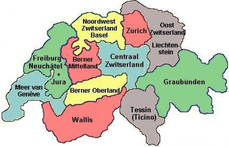 Kaart Met Kantons Zwitserland Google Search Zwitserland