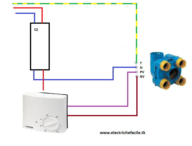 Schema De Raccordement Electrique Vmc Avec Hygrostat Si Vous