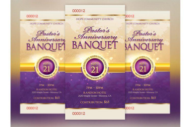 Clergy Anniversary Banquet Ticket Template 7510 Flyers Design Bundles In 2021 Psd Flyer Templates Ticket Template Template Design