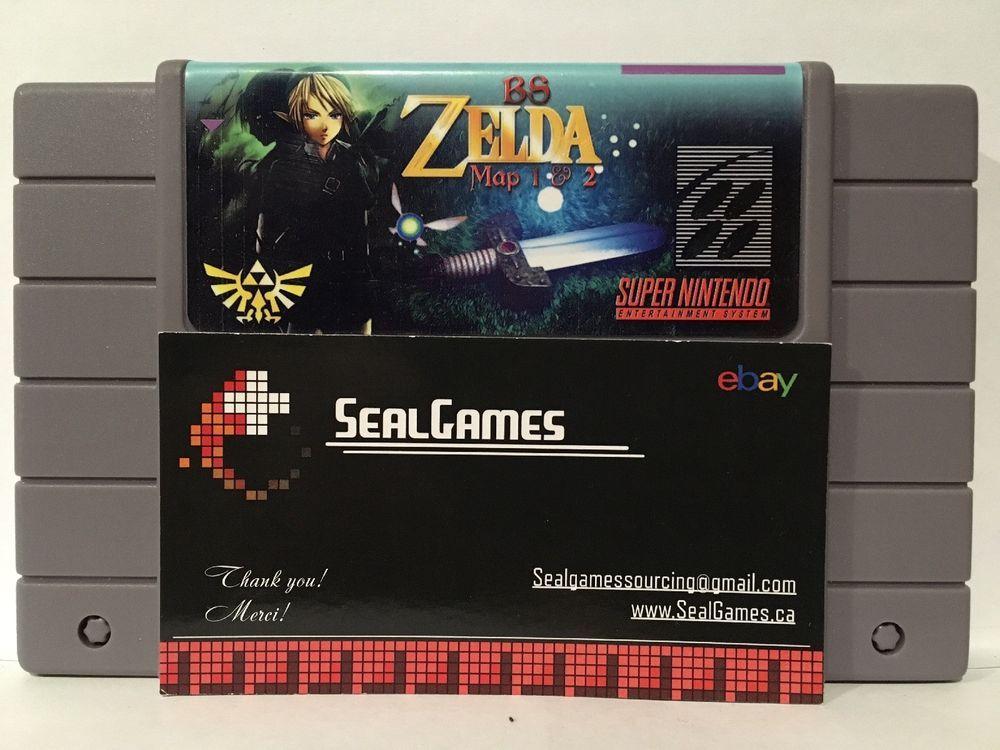 Zelda Bs Maps 1 & 2 Fan Made Game Super Nintendo Snes Reproduction
