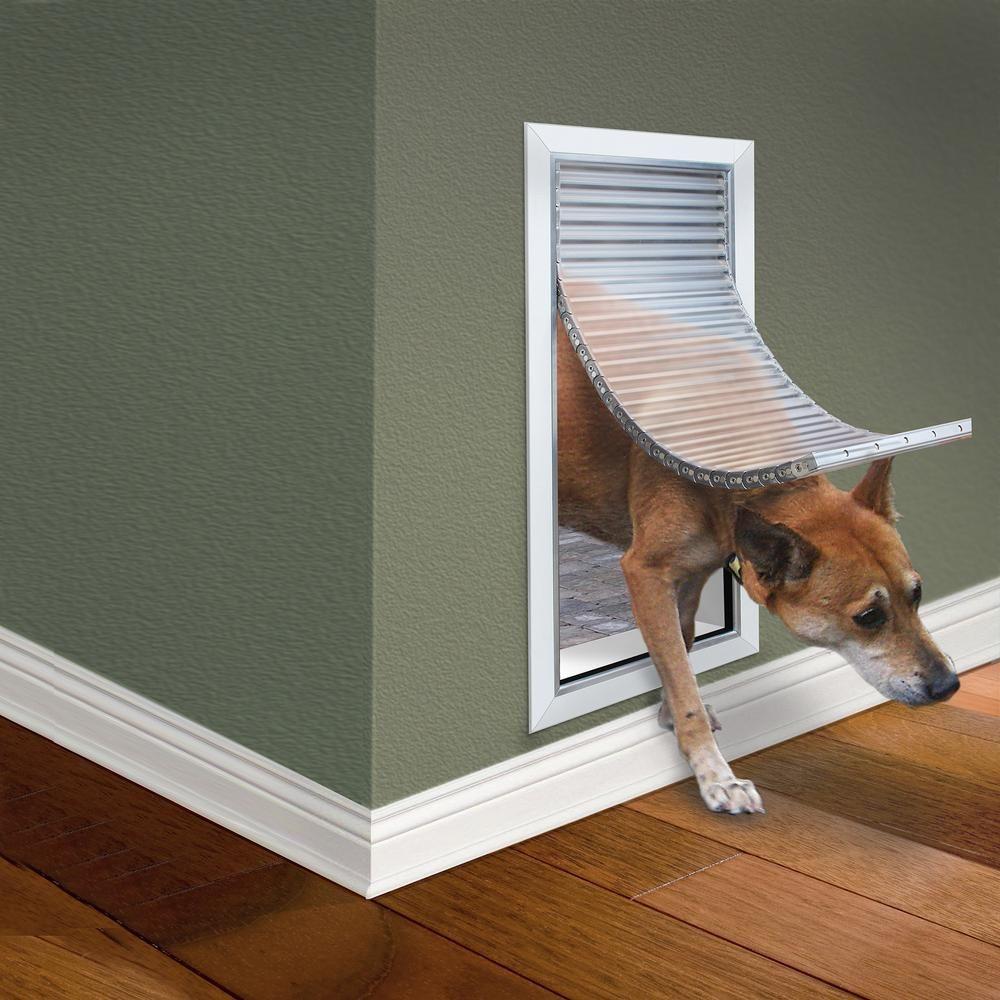 High Tech Pet 8 25 In X 17 25 In Weather And Energy Efficient Pet Door With Magnetic Closure For Doors And Walls Af2 M The Home Depot In 2020 Pet Door Dog Door Pet Doors