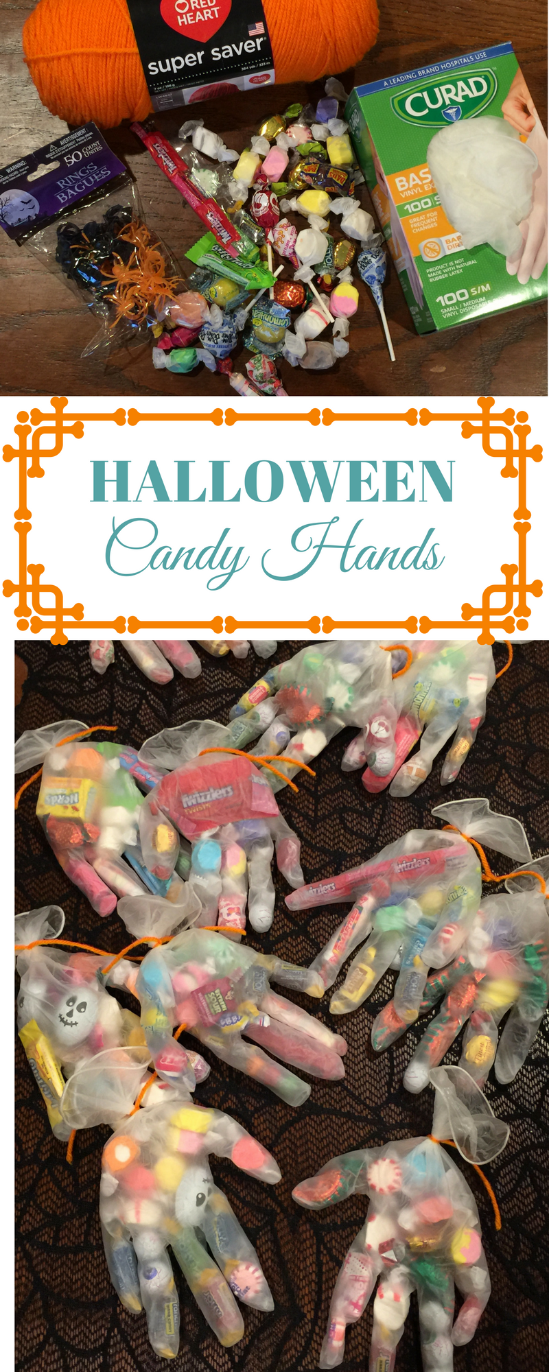 Halloween Candy Hands – A Fun, Spooky Party Favor #spookybasketideas