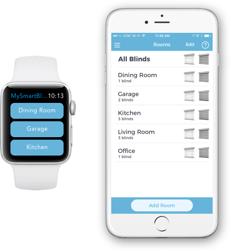 Custom Smart Blinds Make Your Existing Blinds Smart For Less Mysmartblinds Pay For Themselves With The Mon Smart Blinds Smart Home Automation Home Automation