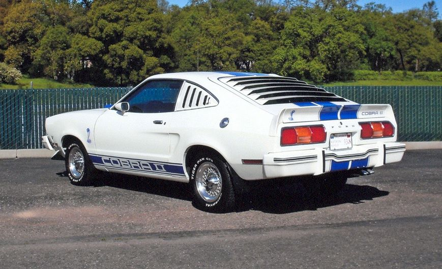 1976 Mustang Cobra White Ii Hatchback