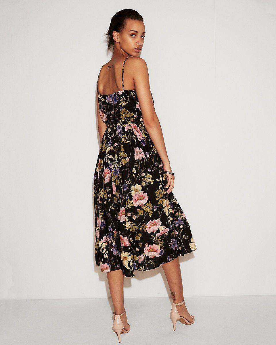 b5ce910339d Petite Floral Empire Waist Midi Dress
