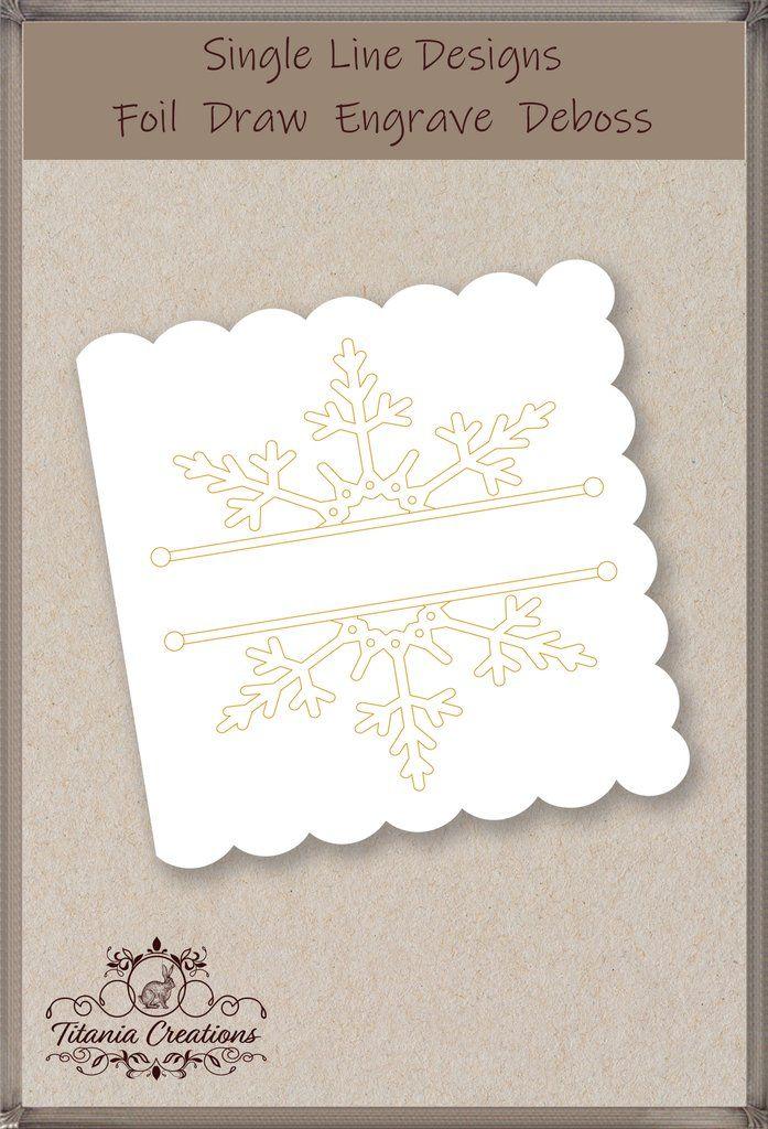 Single Line Split Snowflake Foil Quill SVG Quilling