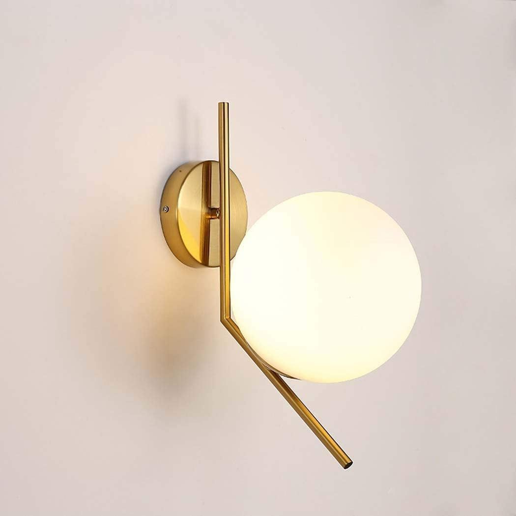 Glass Globe Wall Sconce Wall Sconces Bedroom Brass Wall Sconce Brass Wall Lamp