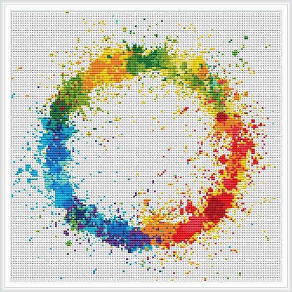 Circle Cross Stitch Pattern Free Shipping Cross Stitch Pdf