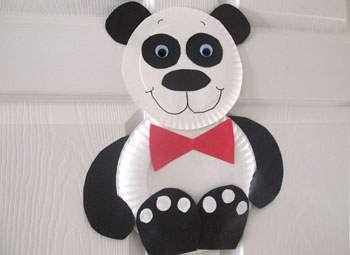 Manualidades para niños Oso panda de papel - Todo Manualidades. Panda CraftPaper Plate ... & Manualidades para niños: Oso panda de papel | Panda craft Panda and ...