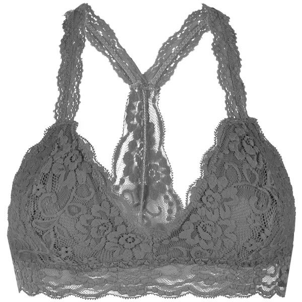 64f36fe7936 Youmita Taupe Lace Racerback Bralette ( 9.49) ❤ liked on Polyvore featuring  intimates