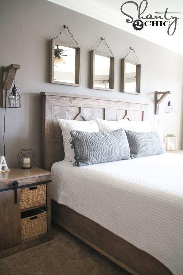 Designing Your Own Bedroom Diy Rustic Modern King Bed  Rustic Modern King Beds And Wood Stain