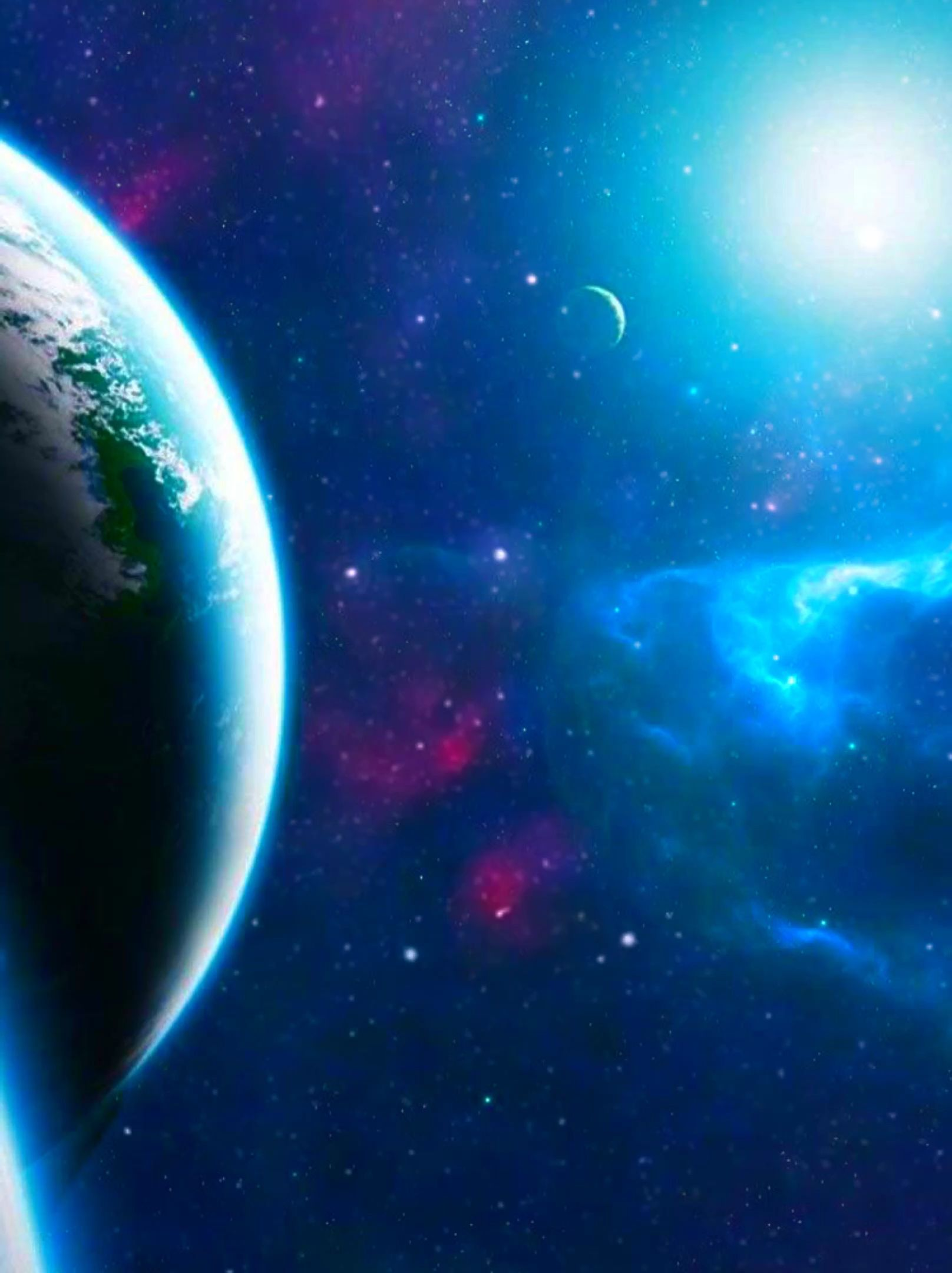 Live wallpaper planet galaxy