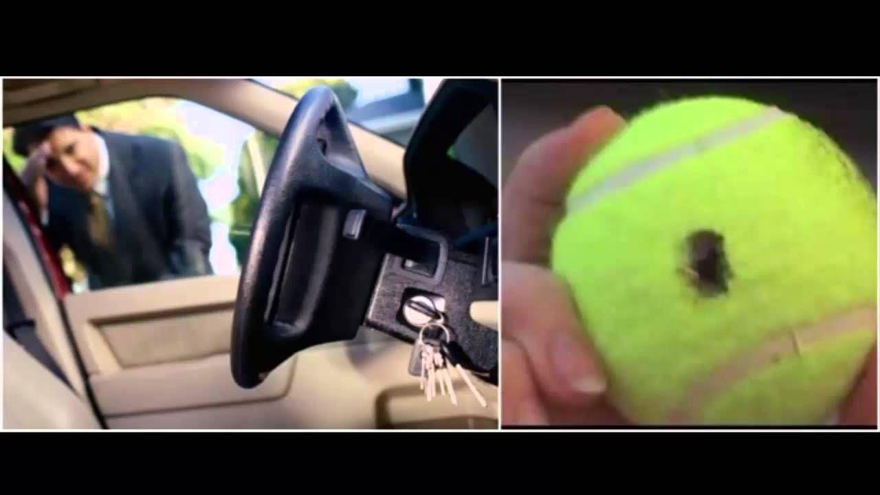 Mire Como Usted Puede Abrir Su Coche Con Una Pelota De Tenis Si