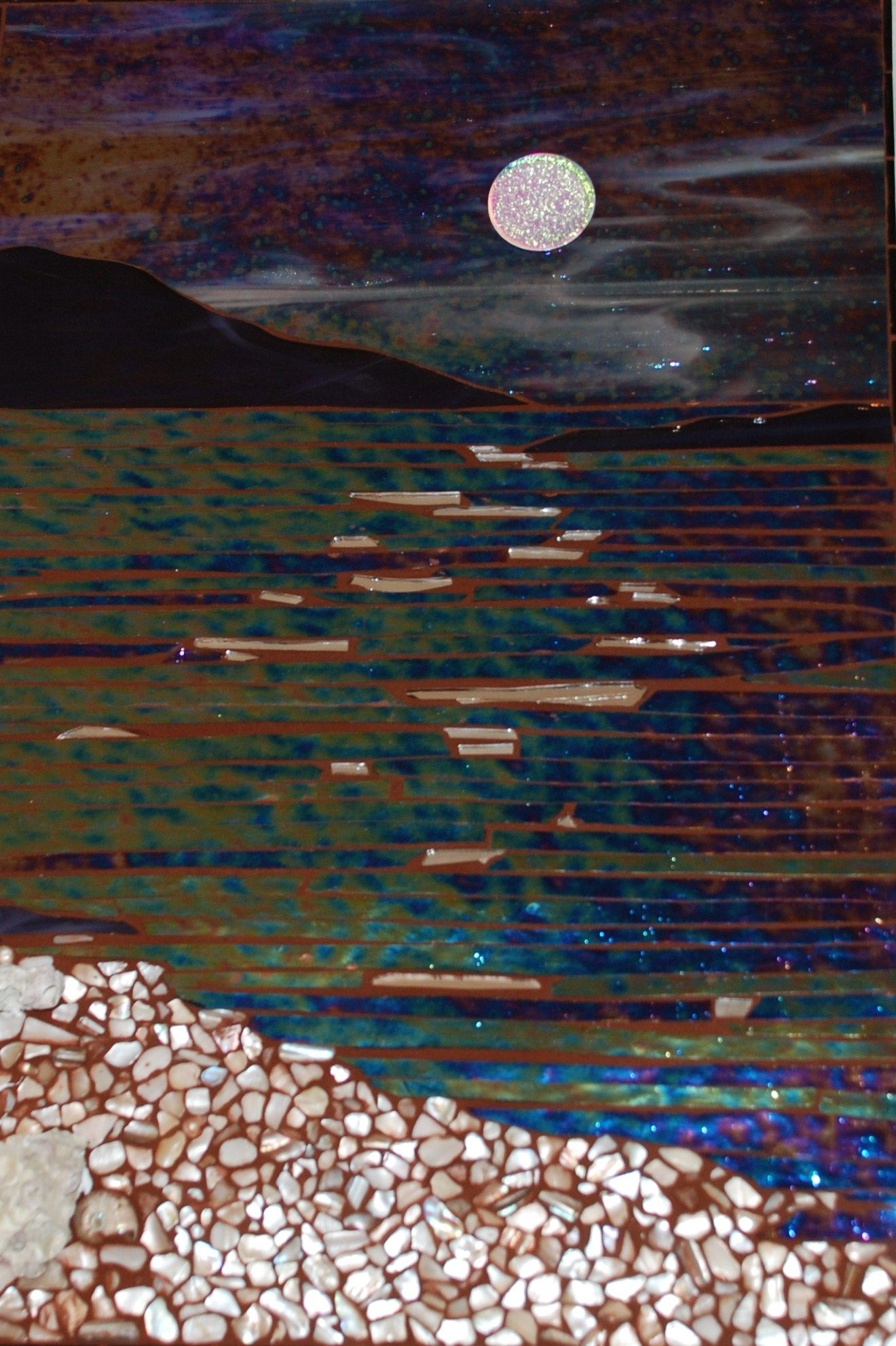 Silver Moon - Grace Gibson Studio Luminaria Mosaic Inspiration Crafts