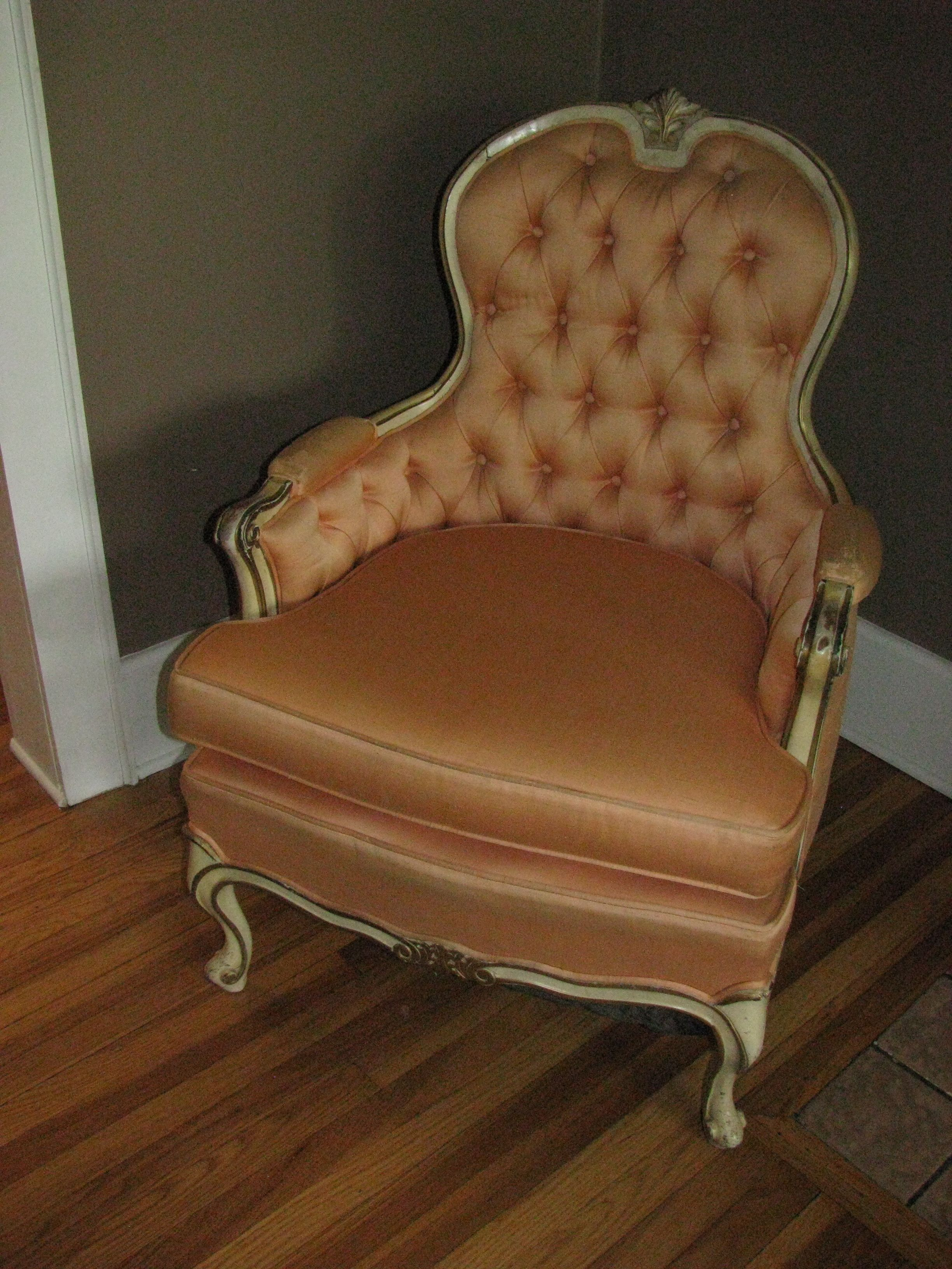 Before Picture Of Grandma S French Provincial Armchair