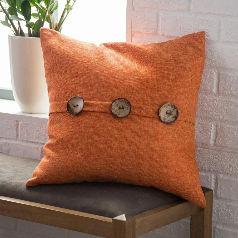 Thro By Marlo Lorenz Chelsea Textured Weave Button Pillow ...