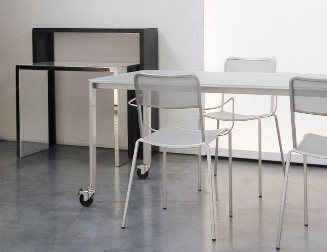 Tavolo consolle / moderno / acciaio inossidabile / indoor - by Maurizio Peregalli - ZEUS