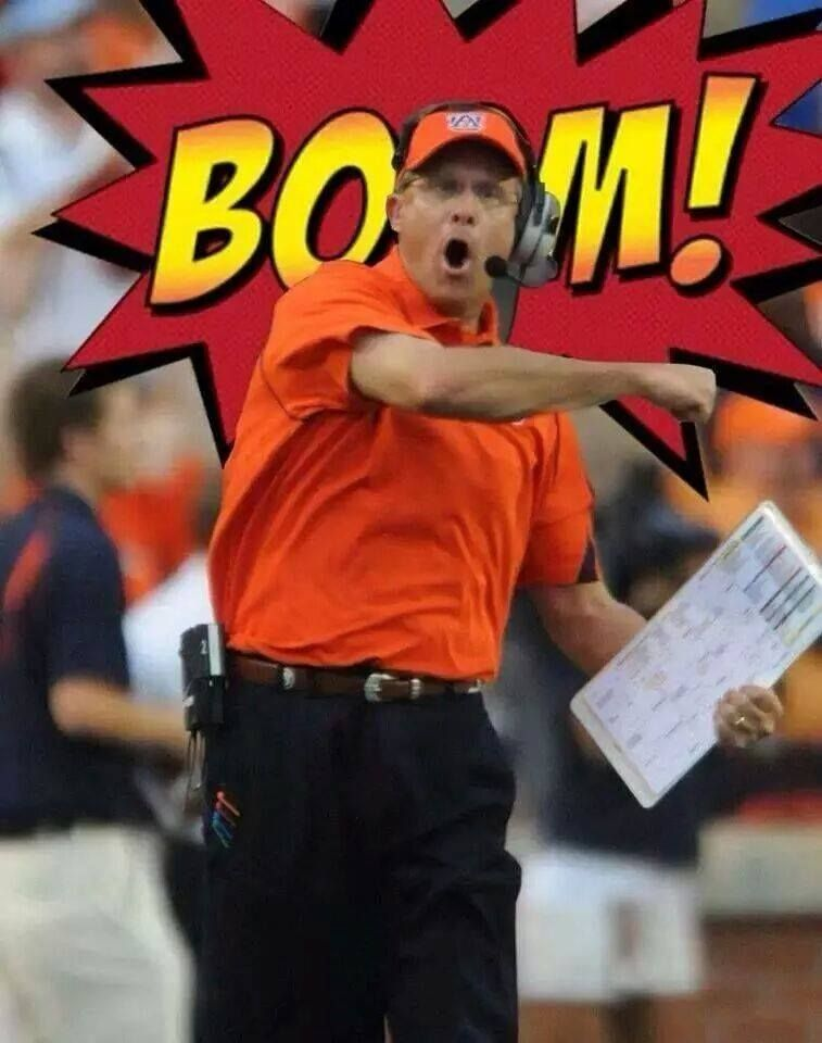 Auburn Tigers Gus Malzahn BOOM