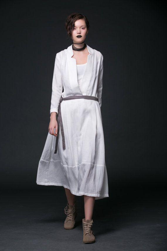31a4045ae407 2015 New White linen dress maxi dress women dress by YL1dress