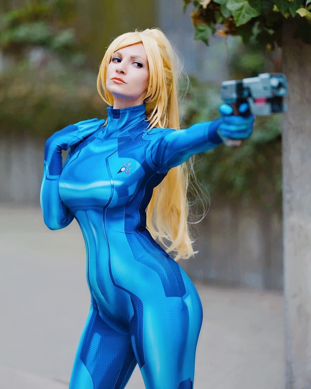 Sharkiekitty Samus Aran Zero Suit Version Cosplay
