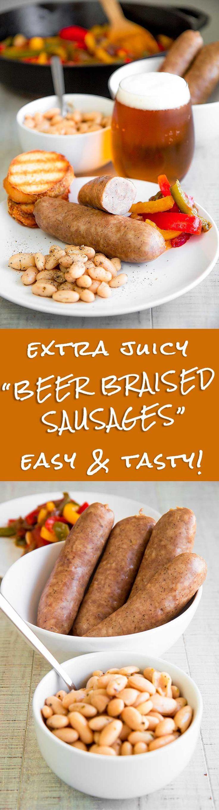 Photo of EXTRA JUICY BEER BRAISED SAUSAGES – Easy & Tasty!