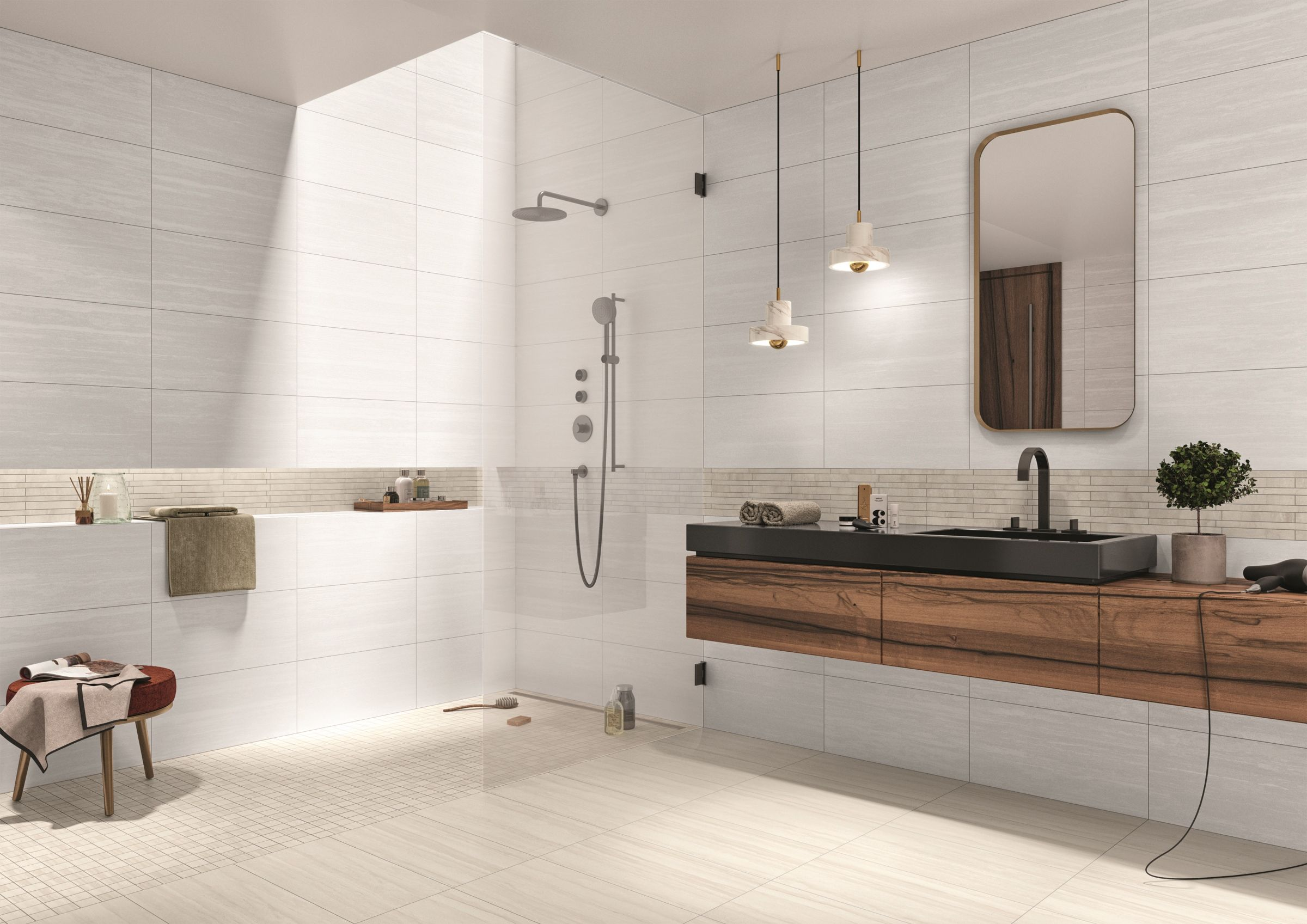 Badezimmerfliese Dusche Wandfliesen Modernes Badezimmerdesign
