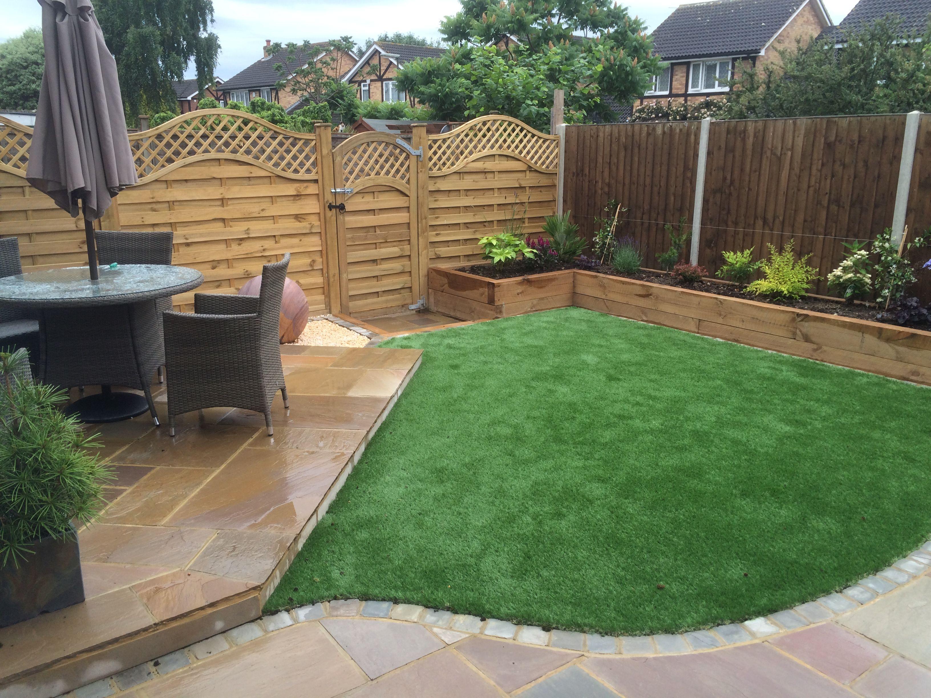After - A low maintenance garden in Sunbury. The artificial grass ...