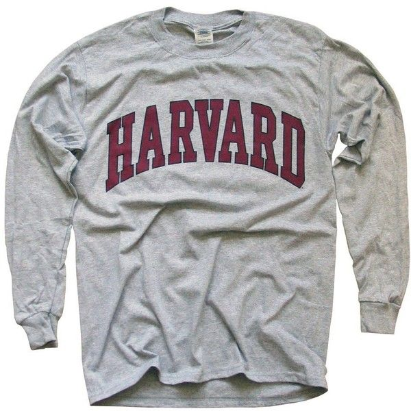 22b8c0991 Harvard University T-Shirt, Officially Licensed Long-Sleeve College...  ($25) ❤ liked on Polyvore