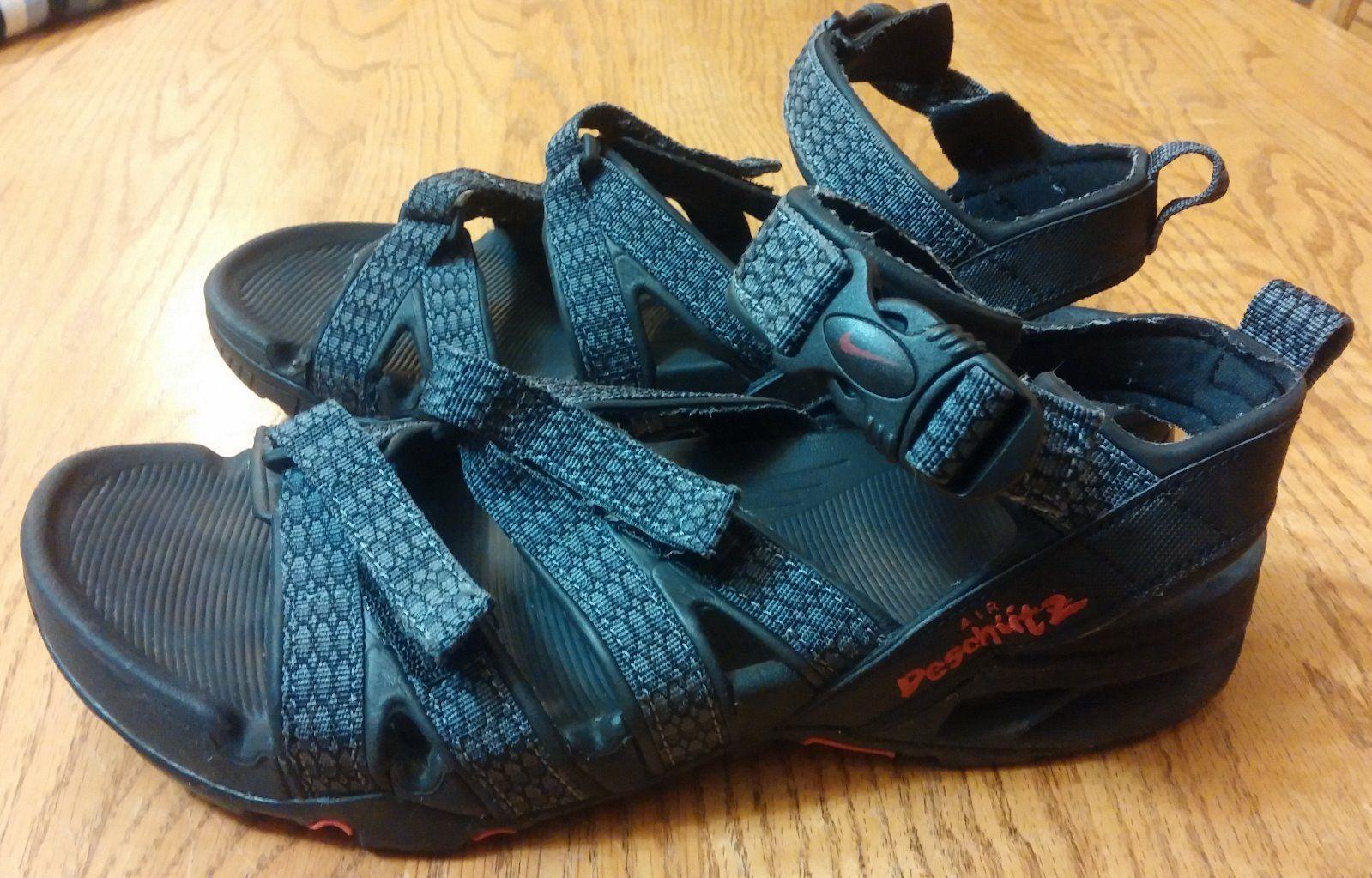 44c56d24120d28 Mens Size 10 Nike ACG Air Deschutz Hiking Sport Water Sandals Gray Black