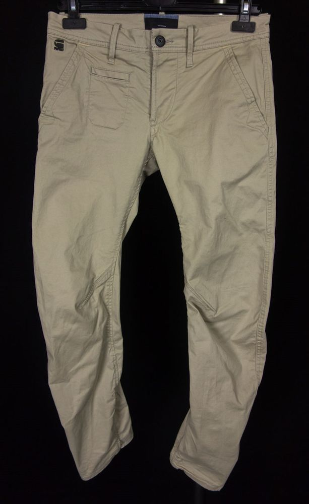 G-STAR RAW CORRECT Mens Chino Tapered Jeans Size S Small 32 Beige Pants   GStarRawCorrect  Tapered 46603034913a8