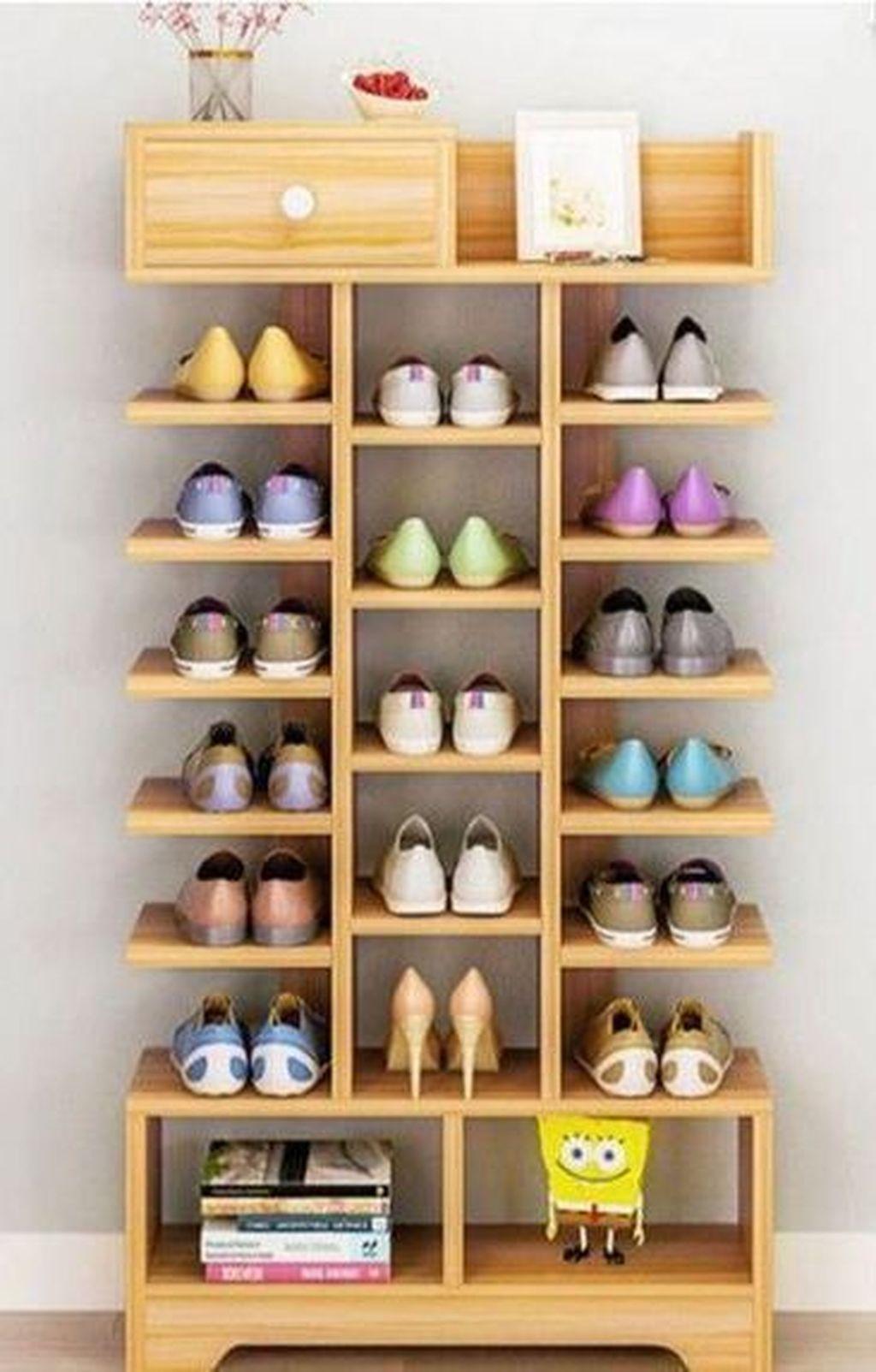 36 Delightful Diy Shoe Rack Design Ideas To Keep Your Shoes Nicely Diy Shoe Storage Shoe Storage Design Diy Furniture