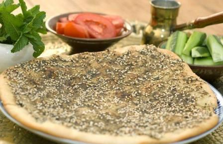 Manoushi breakfast bread with zaatar and sumac food pinterest manakish delicious lebanese bread with zaatar spice the flavor will haunt you in a good way forumfinder Image collections