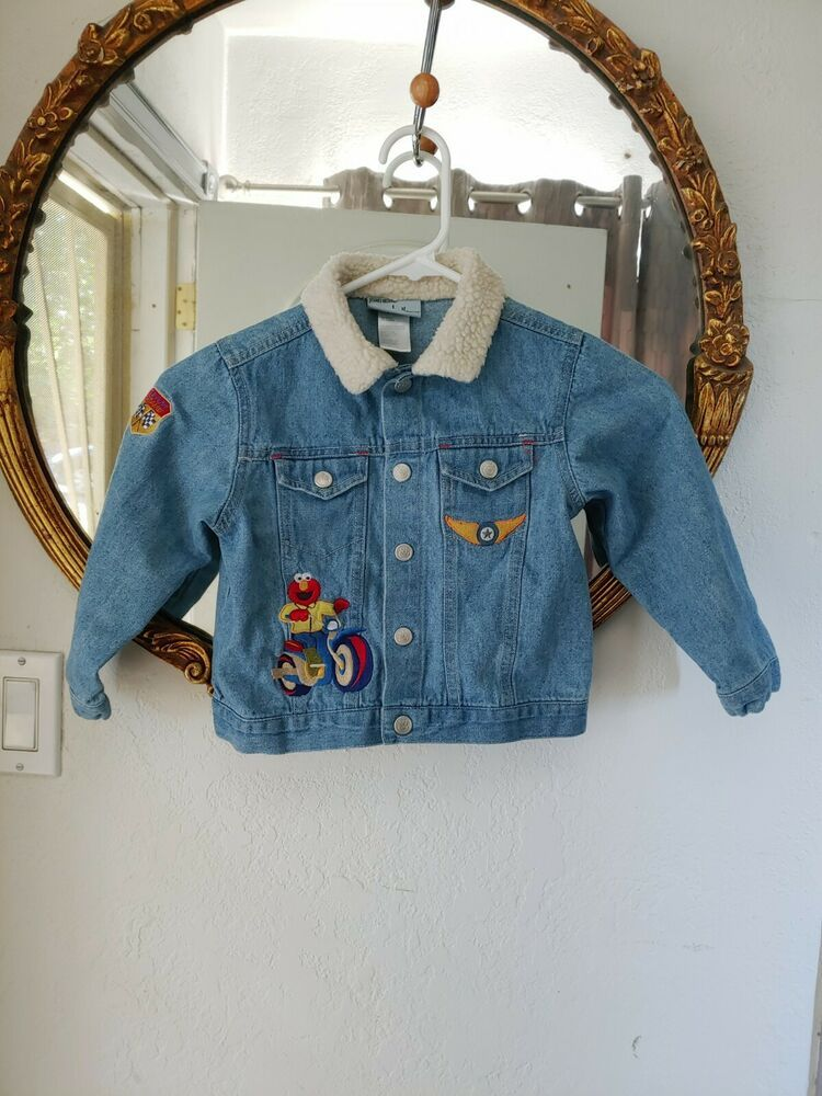 Sesame Street Nicole Miller Jean Jacket 4T Boy Elmo