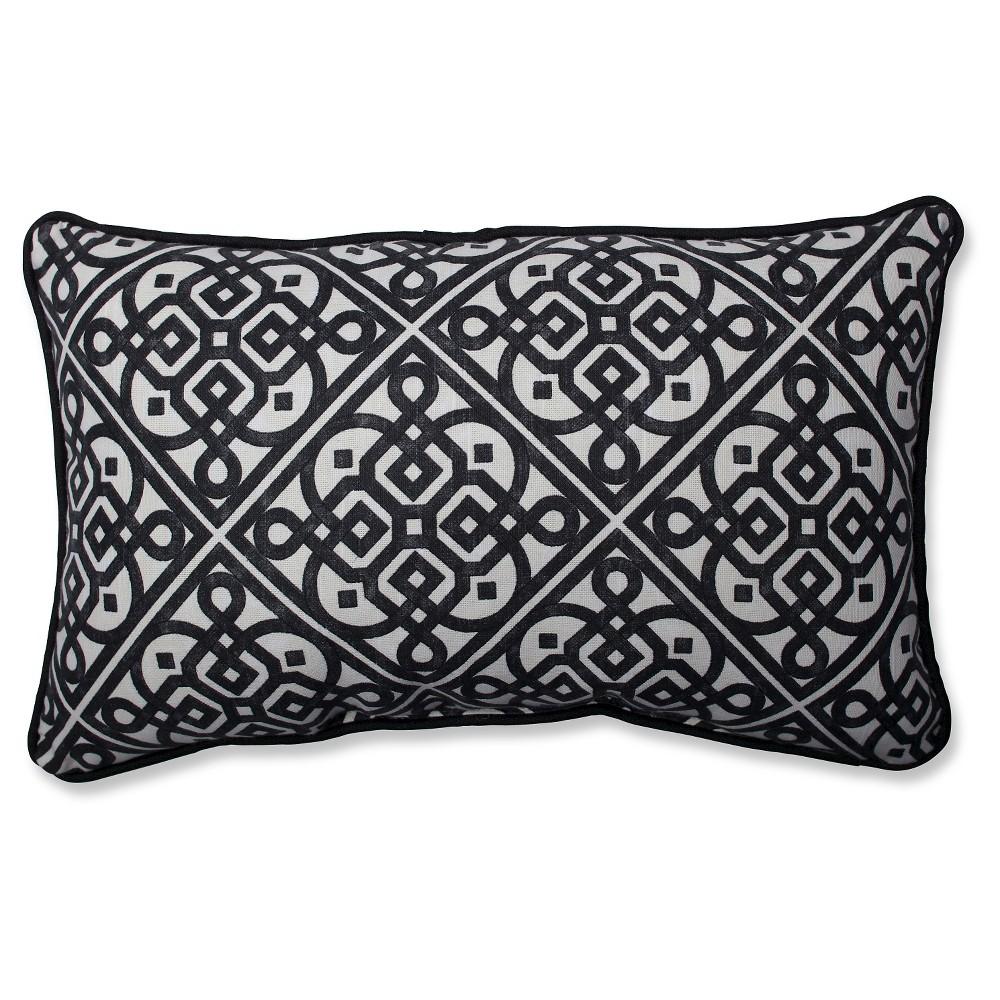 Pillow Perfect Lace It Up Ebony