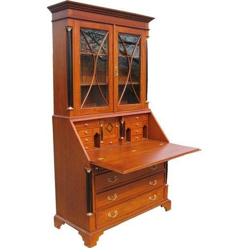 Secr taire biblioth que anglais acajou hylton meuble de - Secretaire bibliotheque meuble ...