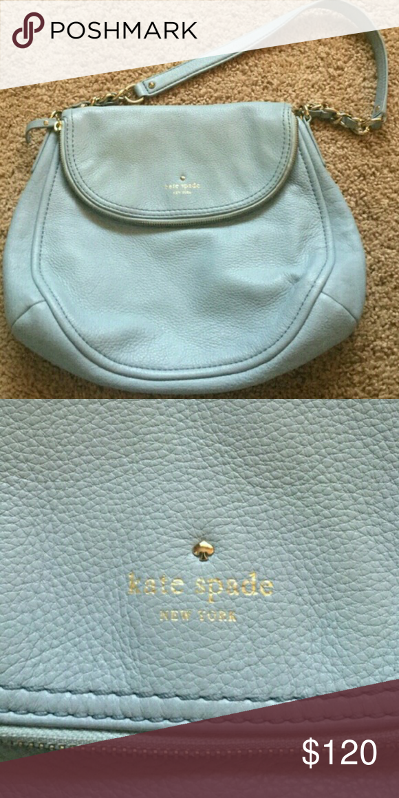 Light Blue  kate spade flap purse summer flirty Preowned. Kate Spade Bags Crossbody Bags