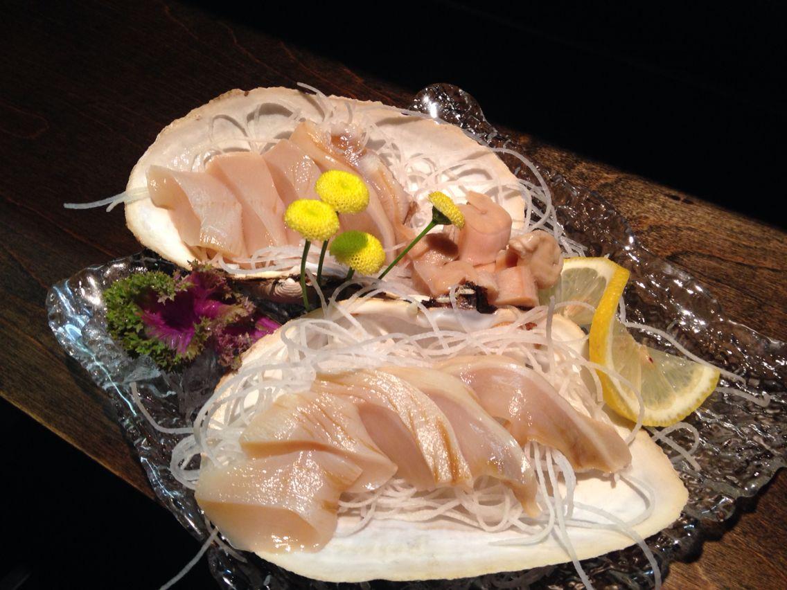 Mirugai (giant clam) sashimi | Sashimi / Sushi Giant Clam Sushi