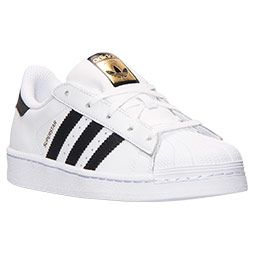 Kids Preschool Adidas Superstar Casual Shoes  Old school shells