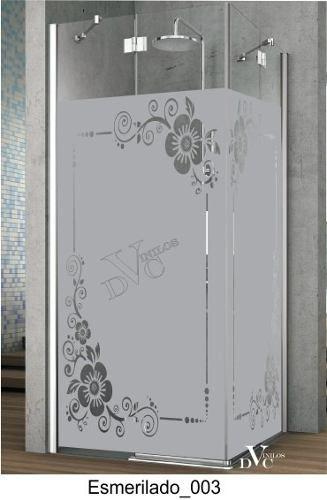 Vinilo decorativo esmerilado para vidrios vinilos en for Murales para banos modernos