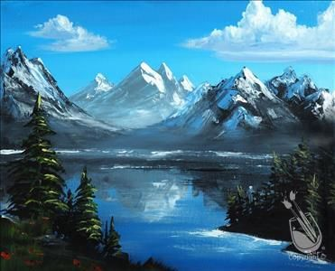 Open to public almighty mountains 12 18 2016 for Painting with a twist greenville tx